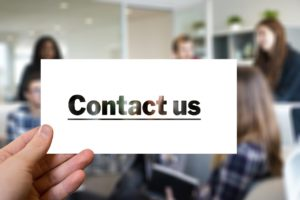 "A graphic with the words ""Contact us"""